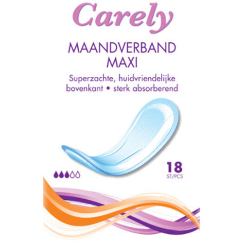 Carely Carely Maandverband Maxi - 18 Stuks