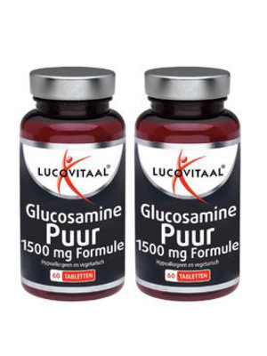 LUCOVITAAL Lucovitaal Glucosamine Puur - 2 X 60 Tabletten