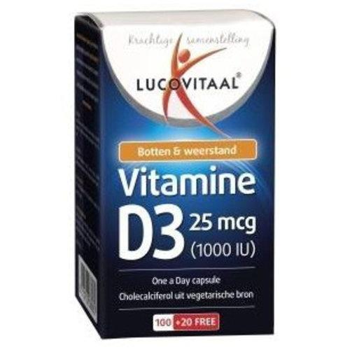 LUCOVITAAL Lucovitaal Vitamine D3 25mcg - 120 Capsules