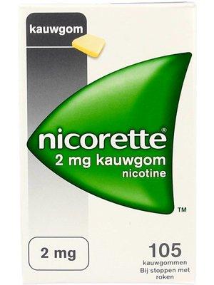 Nicorette Nicorette Kauwgom Classic 2 Mg - 105 Stuks