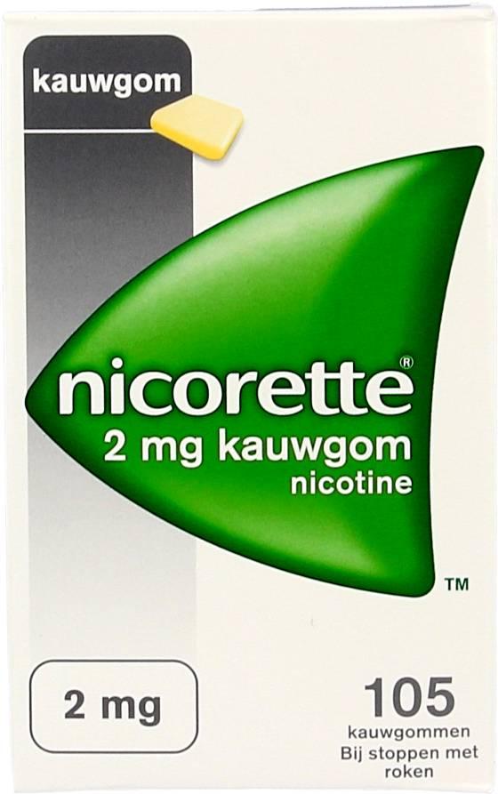 Nicorette Nicorette Kauwgom Classic 2 Mg – 105 Stuks