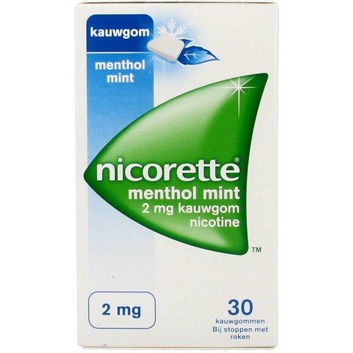 Nicorette Nicorette Kauwgom Mentholmint 2 Mg - 30 Stuks