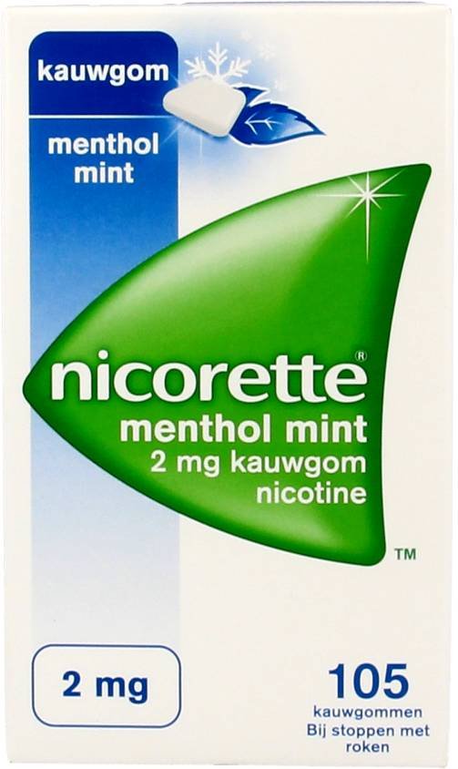 Nicorette Nicorette Kauwgom Mentholmint 2 Mg – 105 Stuks