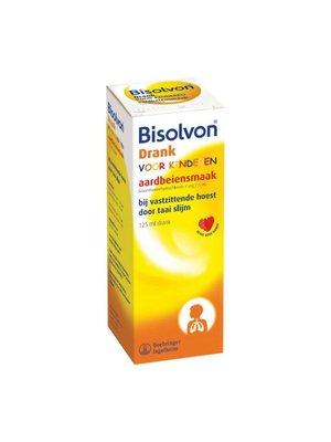 Bisolvon Bisolvon Elixer Kind 4 Mg/5ml Aardbei - 125 Ml
