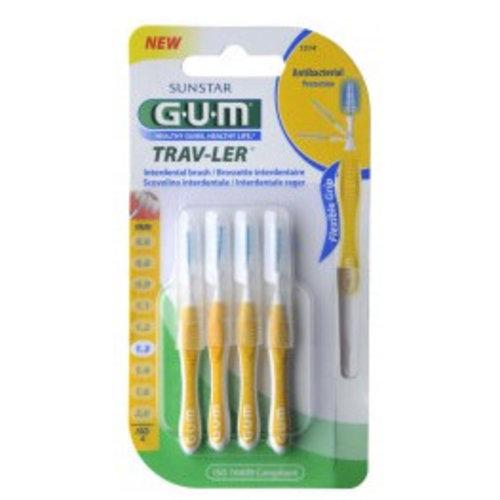 Gum Gum Ragers Trav-Ler Geel 1.3mm - 4 Stuks