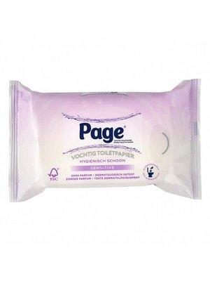 Page Page Vochtig Toiletpapier Sensitive Navul - 42 Stuks