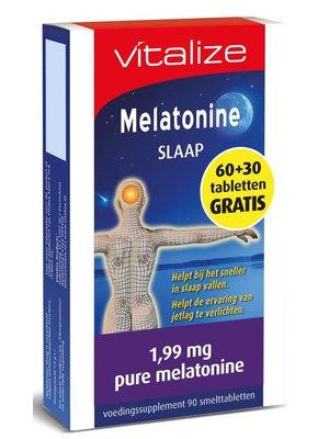 Vitalize Vitalize Melatonine Slaap - 60+30 Tabletten