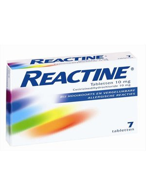 Reactine Reactine allergie tabletten 10 Mg - 7 Tabletten