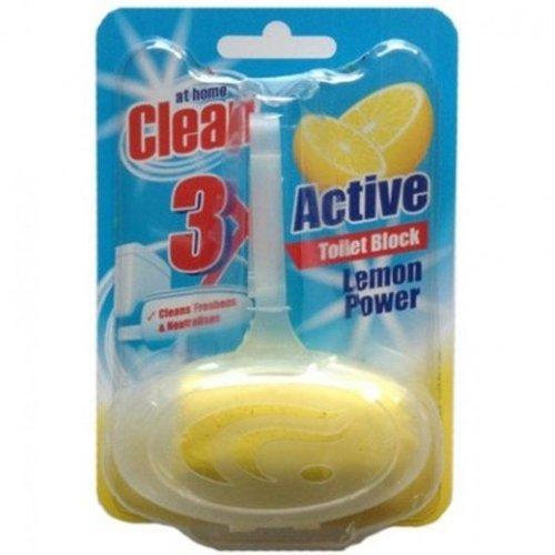 At Home At Home Clean Toiletblok Lemon Power - 40 Gram