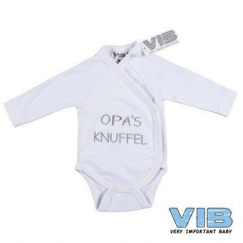 Vib Vib Baby Overslag Romper Opa Knuffel Wit - 1 Stuks