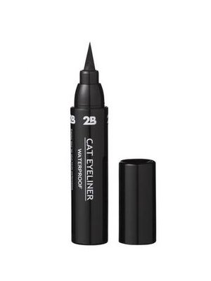 2b 2B CAT EYELINER WATERPROOF BLACK 01 - 1 STUKS