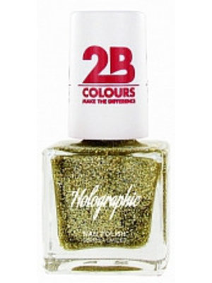 2b 2B NAGELLAK HOLOGRAPHIC EFFECT 608 GOLD - 1 STUKS