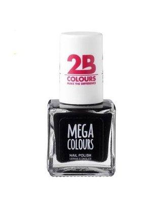 2b 2B NAGELLAK MEGA COLOURS 624 BLACK - 1 STUKS
