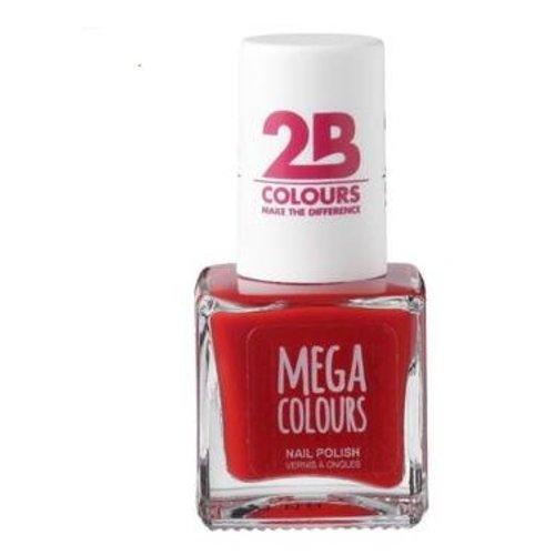 2b 2B NAGELLAK MEGA COLOURS 652 ROUGE PASSION - 1 STUKS