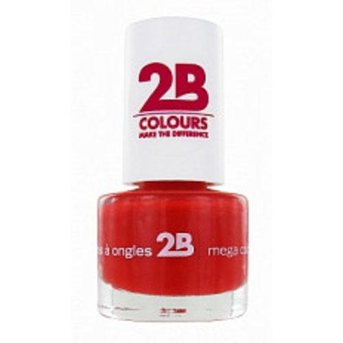 2b 2B NAGELLAK MEGA COLOURS MINI 18 COQUELICOT RED - 1 STUKS