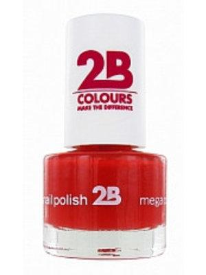 2b 2B NAGELLAK MEGA COLOURS MINI 19 RUBY KISSES - 1 STUKS