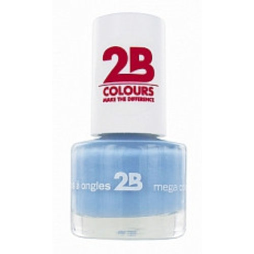 2b 2B NAGELLAK MEGA COLOURS MINI 27 POWER BLUE - 1 STUKS
