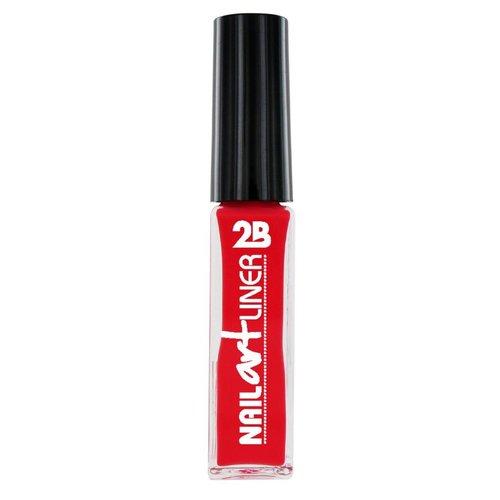 2b 2B NAIL ART LINER CORAL RED 14 - 1 STUKS