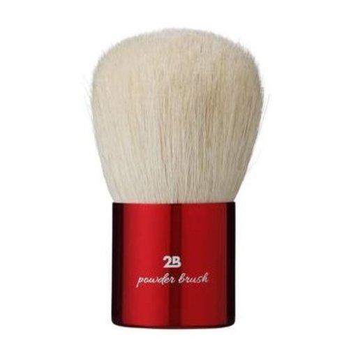 2b 2B POWDER BRUSH SMALL HANDLE RED - 1 STUKS