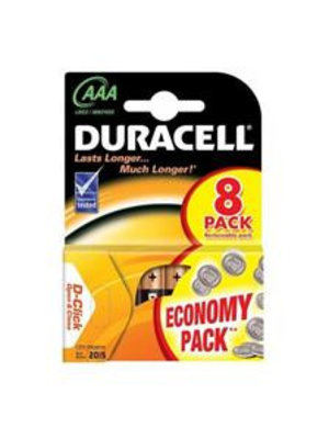 DURACELL Duracell Aaa 1.5 V Alkaline Lr03 - 8 Batterijen Tijdelijk niet leverbaar!!!!!