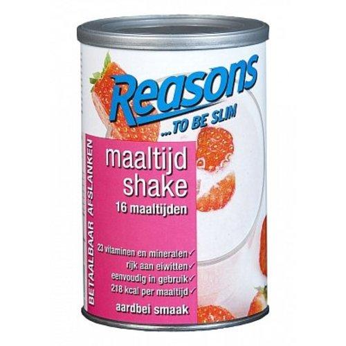 Reasons Reasons Maaltijd Shake Aardbei 400 Gram