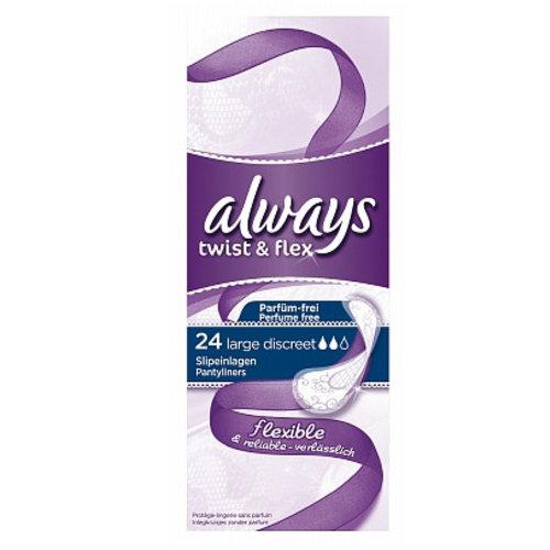 Always Always Inlegkruisjes Twist&Flex Large - 24 Stuks