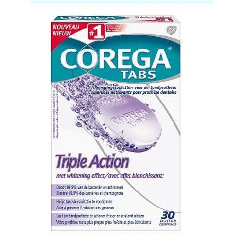 Corega Corega Gebitsreinings Tabs Triple Action - 30 Stuks