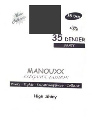 Manouxx Manouxx Panty 35 Denier Antracite L/Xl - 1 Stuks