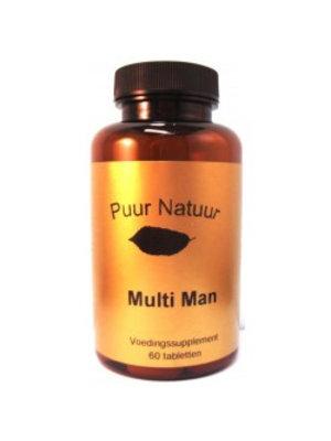 Puur Natuur Puur Natuur Multi Man - 60 Tabletten