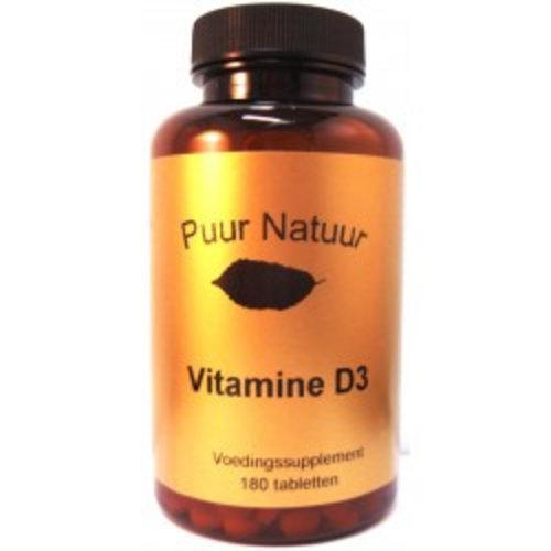 Puur Natuur Puur Natuur Vitamine D3 - 180 Tabletten