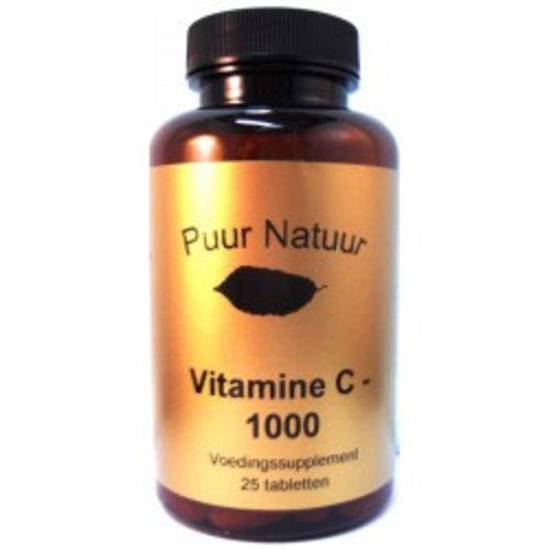 Puur Natuur Puur Natuur Vitamine C 1000mg - 25 Tabletten