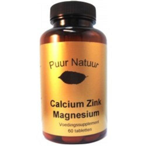 Puur Natuur Puur Natuur Calcium/Zink/Magnesium - 60 Capsules