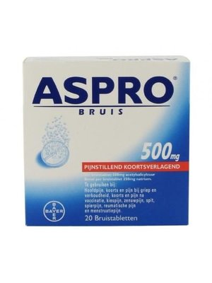 Aspro Aspro 500 Bruis Tabletten 20 Tabletten
