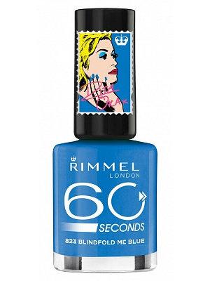 RIMMEL RIMMEL LONDON 60 SECONDEN NAGELLAK 823 BLINDFOLD ME BLUE - 1 STUKS