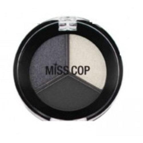 Miss Cop Miss Cop Trio Eyeshadow Black Smoky Nr 17 - 1 Stuks