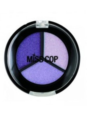 Miss Cop Miss Cop Trio Eyeshadow Purple Nr 08 - 1 Stuks