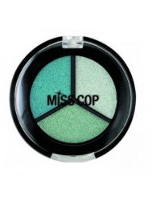 Miss Cop Miss Cop Trio Eyeshadow Aquaverde Nr 09 - 1 Stuks