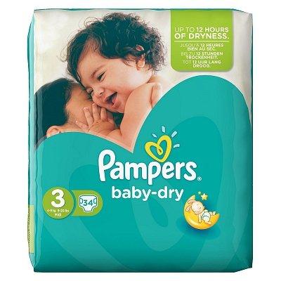 Image of Pampers Pampers Baby Dry Midi Midpak 3 4-9 Kg - 34 Stuks