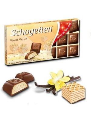 Schogetten Schogetten Chocolade Vanilla Wafer - 100 Gram