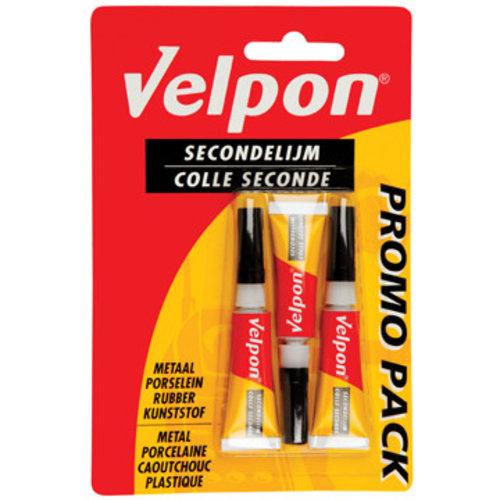 Velpon Velpon Secondelijm - 3 Stuks
