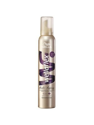 Wella Wella Wellaflex Haarmousse Anti Aging Ultra Sterk - 200 Ml