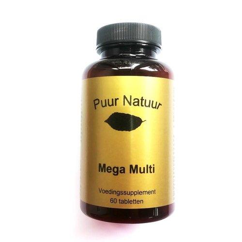Puur Natuur Puur Natuur Mega Multi - 60 Tabletten