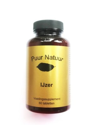 Puur Natuur Puur Natuur Ijzer - 60 Tabletten