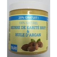 Yari 100% Pure Raw Shea Butter&Argan Olie  250 ml