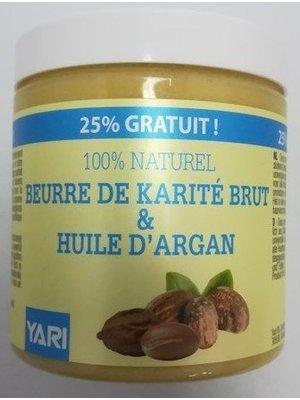 Yari Yari 100% Pure Raw Shea Butter&Argan Olie  250 ml