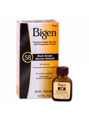 Bigen Bigen Permanent Powder Hair Color Black Brown - 58