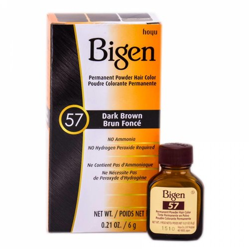 Bigen Bigen Permanent Powder Hair Color Dark Brown 57