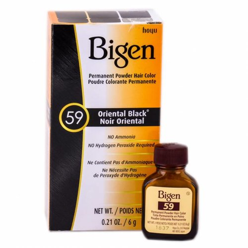 Bigen Bigen Permanent Powder Hair Color Oriental Black  59