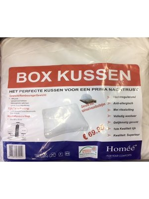 Homee Homee Boxkussen 800 Gram Spiraal/ Vezel Bolletjes 100% Katoen