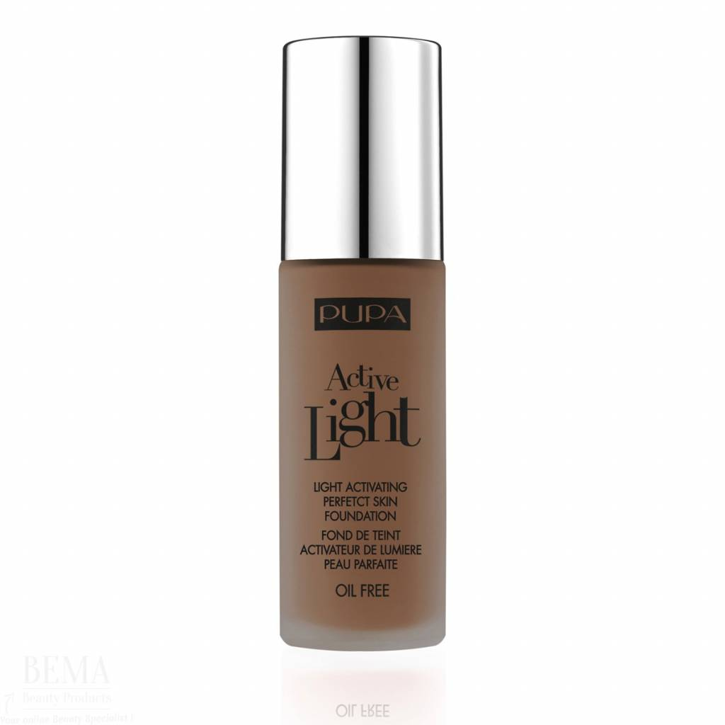 Pupa PUPA MILANO ACTIVE LIGHT FOUNDATION 080 DARK BROWN – 30 ML